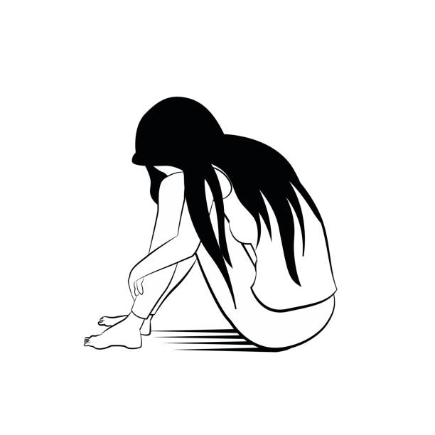 Best Lonely Girl Illustrations, Royalty.