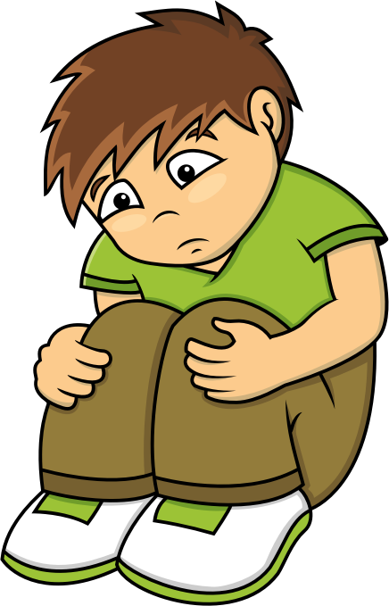 Alone Boy Clipart.