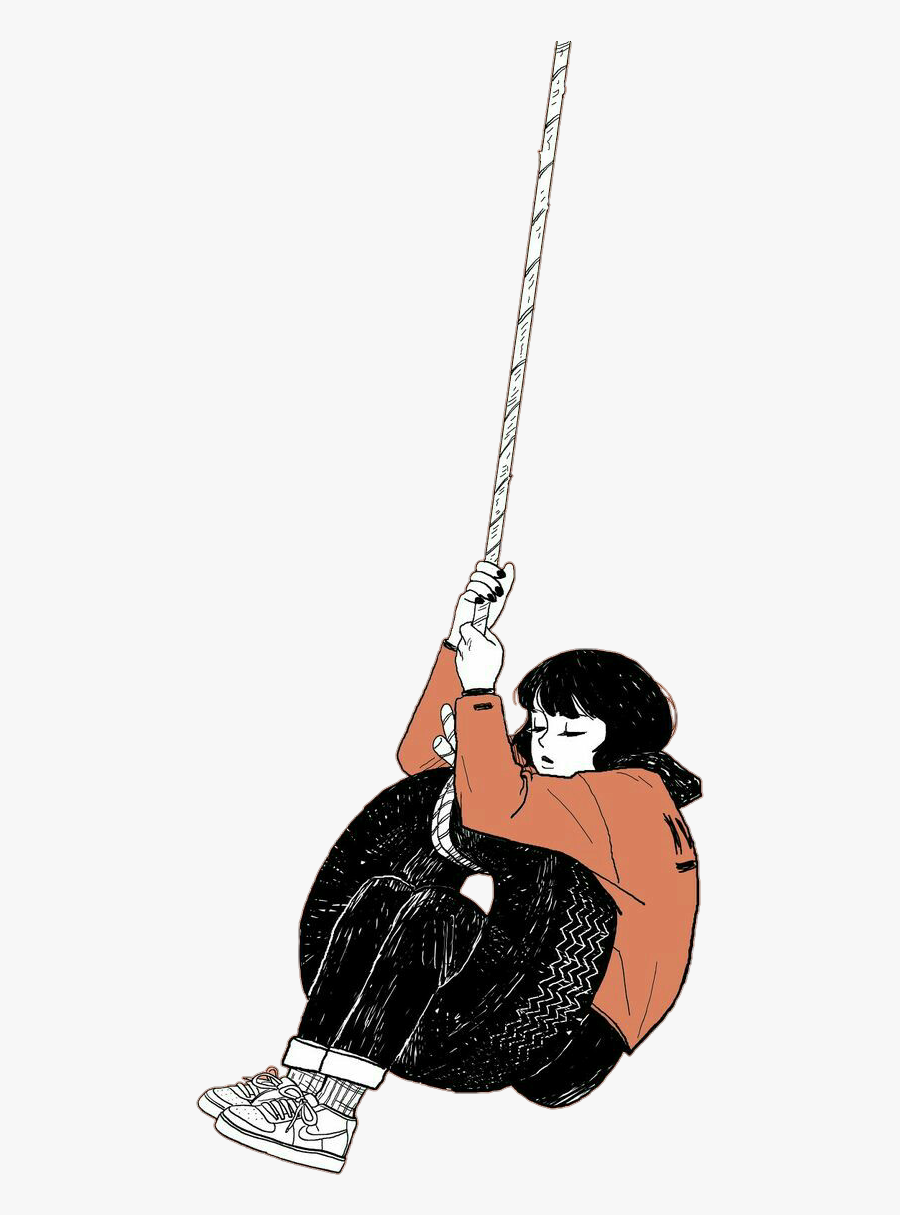 girl #emotions #tire #swing ⭐not My Draw.