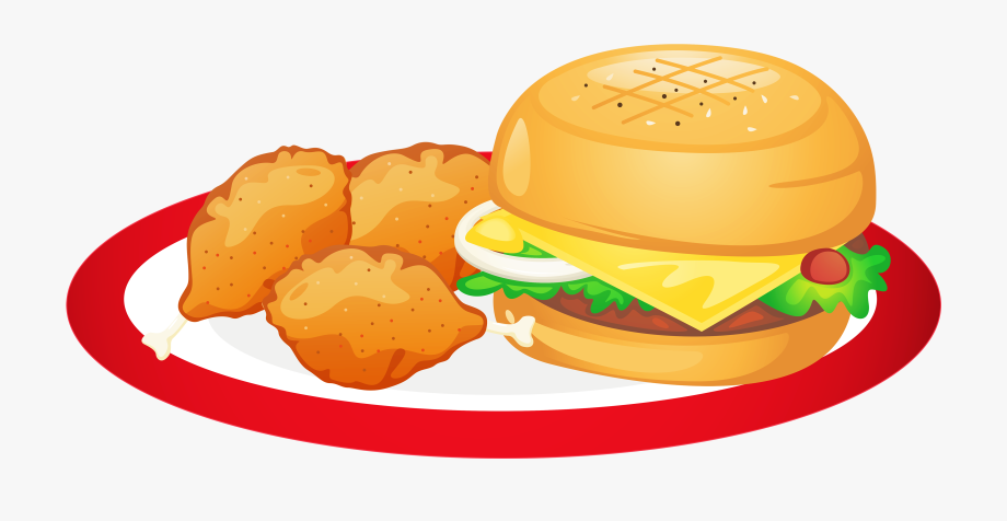 Plate With Not Alot Of Food Transparent Clipart.