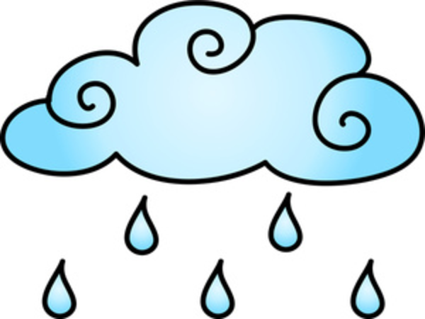 Rain Cloud Cartoon.
