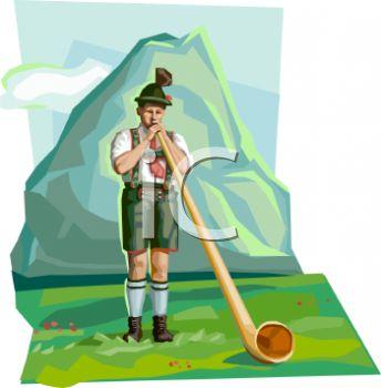 Bavarian Alp Horn Mountain Man.