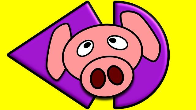 Free illustration: Pink, Pig, Graphics, Drawing, Web.