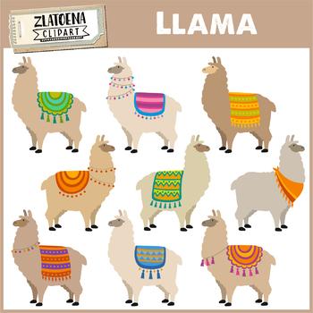 Llama Clip Art Llama clipart Alpaca clipart Cute Llamas clip art.