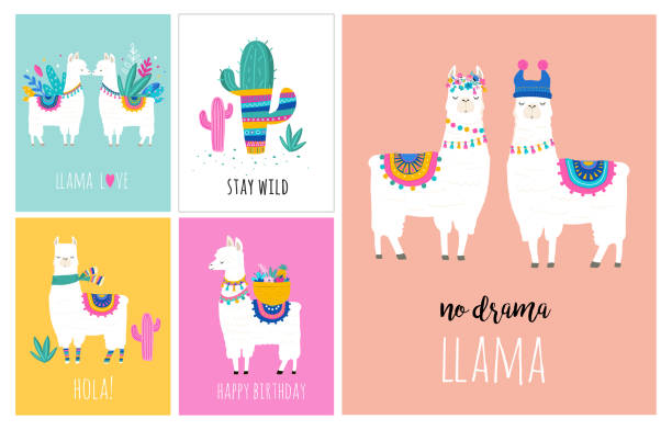 Best Llama Illustrations, Royalty.