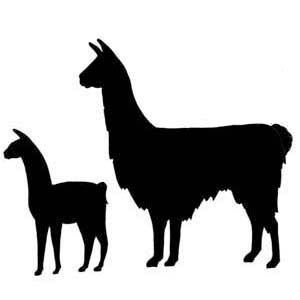 Alpaca silhouette clip art.