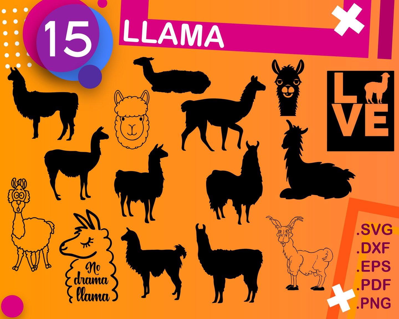 Llama svg, llama clipart, llama face svg, alpaca svg, llama svg file, llama  shirt, llama cut file, llama clip art, lama svg, llama dxf, cute.