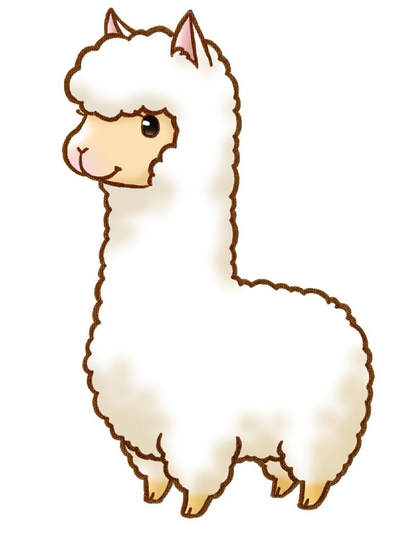 Collection of Alpaca clipart.