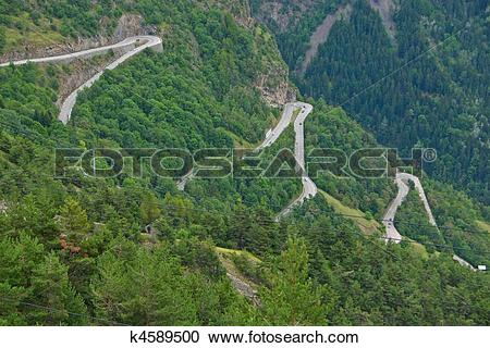 Stock Photography of Alpe d'Huez.