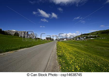 Stock Photo of Italy, South Tyrol, Alpe di Suisi, Compaccio.