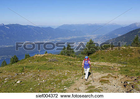 Stock Photo of Austria, Carinthia, Nock Mountains, Millstaetter.