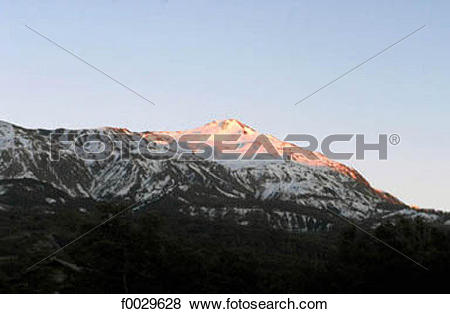 Pictures of France, Alps, Ubaye Valley, la Croix de L'Alpe, sunset.