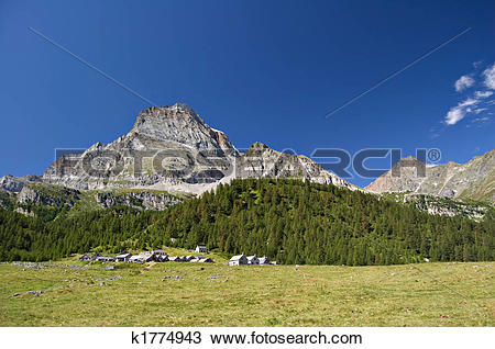 Stock Photo of Alpe Veglia and monte Leone k1774943.