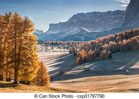 Stock Photographs of Mountan in Alpe de Siusi.