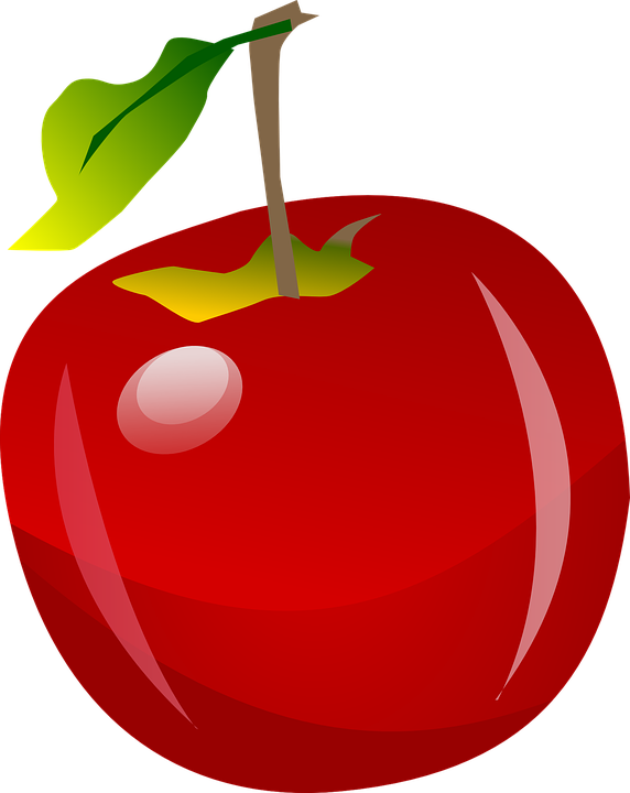 Free photo Juicy Fruit Healthy Vitamins Nature Red Apple.