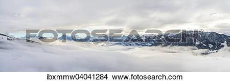 Stock Photo of Alpenpanorama, links Kitzbuhler Horn, von.