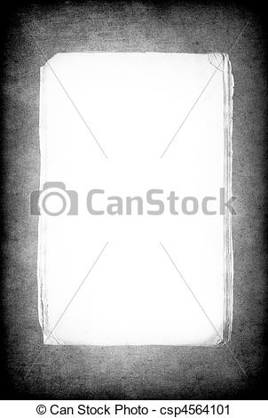 Clipart of Grunge background with isolated paper sheet bundle in.