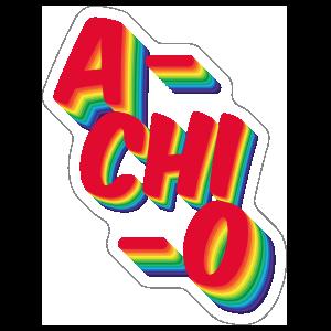 Alpha Chi Omega A Chi O Rainbow Sticker.