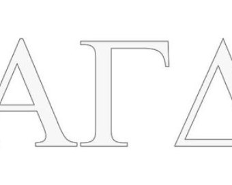Alpha gamma delta sticker.