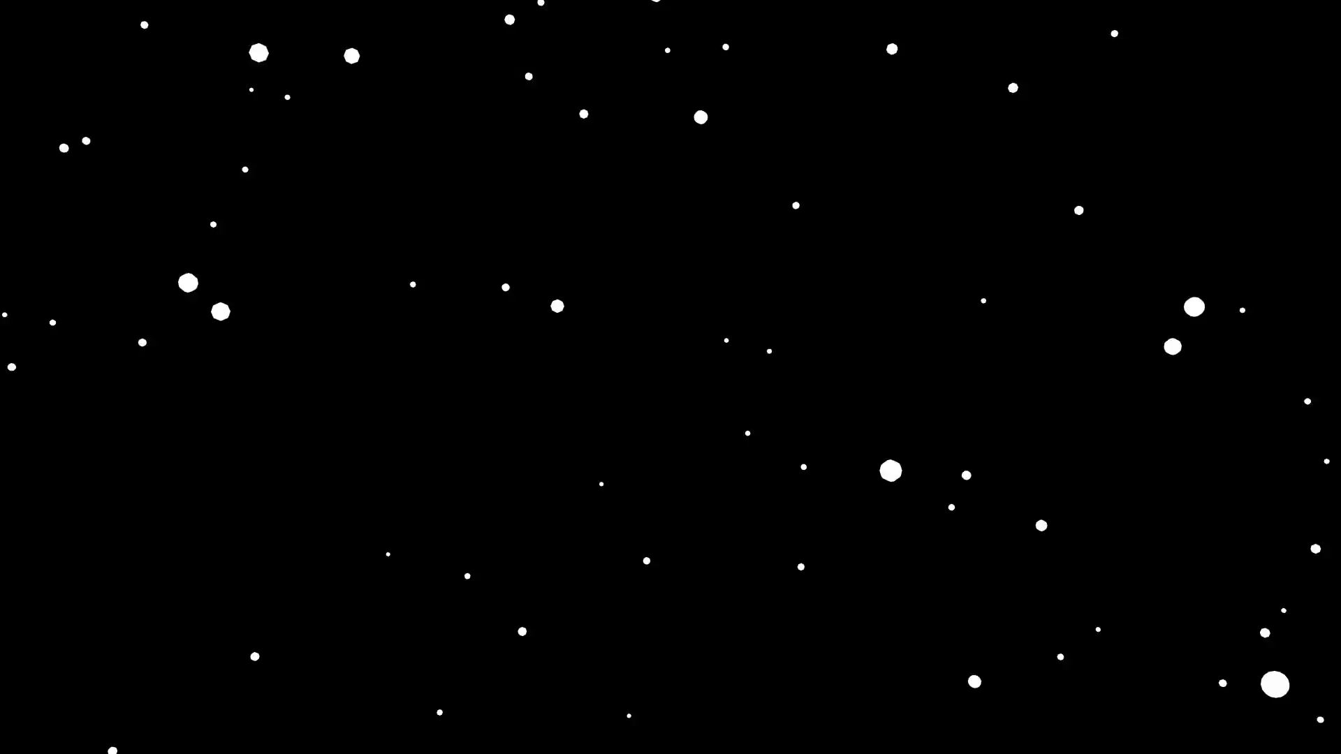 Animated light snowfall on transparent background (Alpha channel embedded  with HD PNG file). Motion Background.