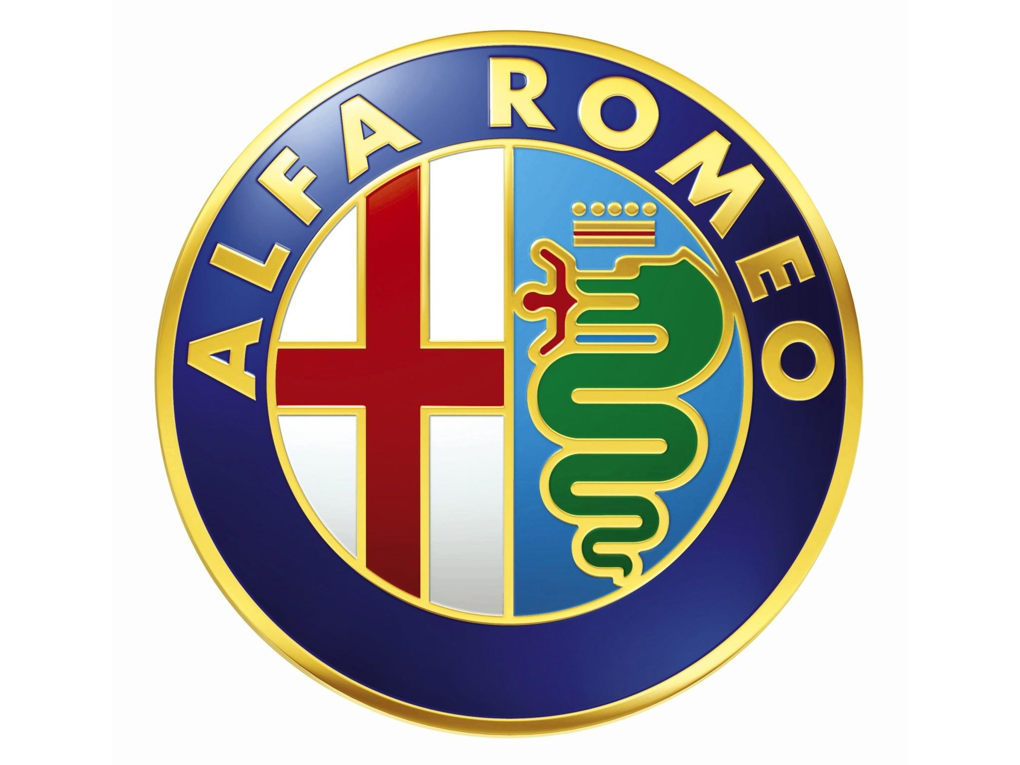 Logo Alfa Romeo.