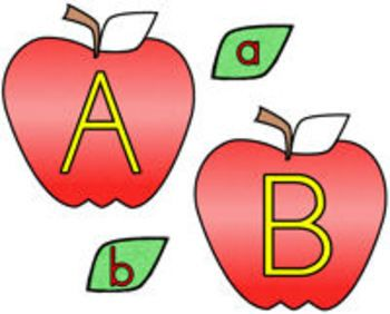 Alphabet Apples! {matching uppercase to lowercase letters.
