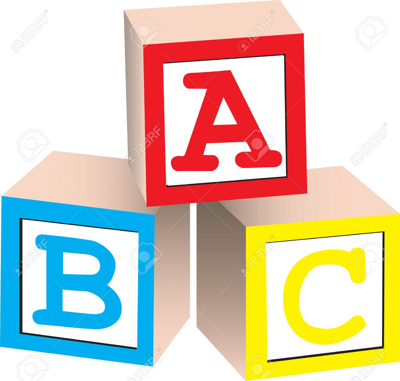 Alphabet block letter clipart.