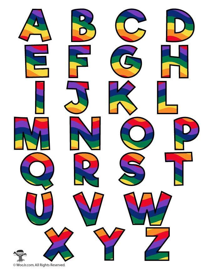 Rainbow Alphabet Printable Letters.