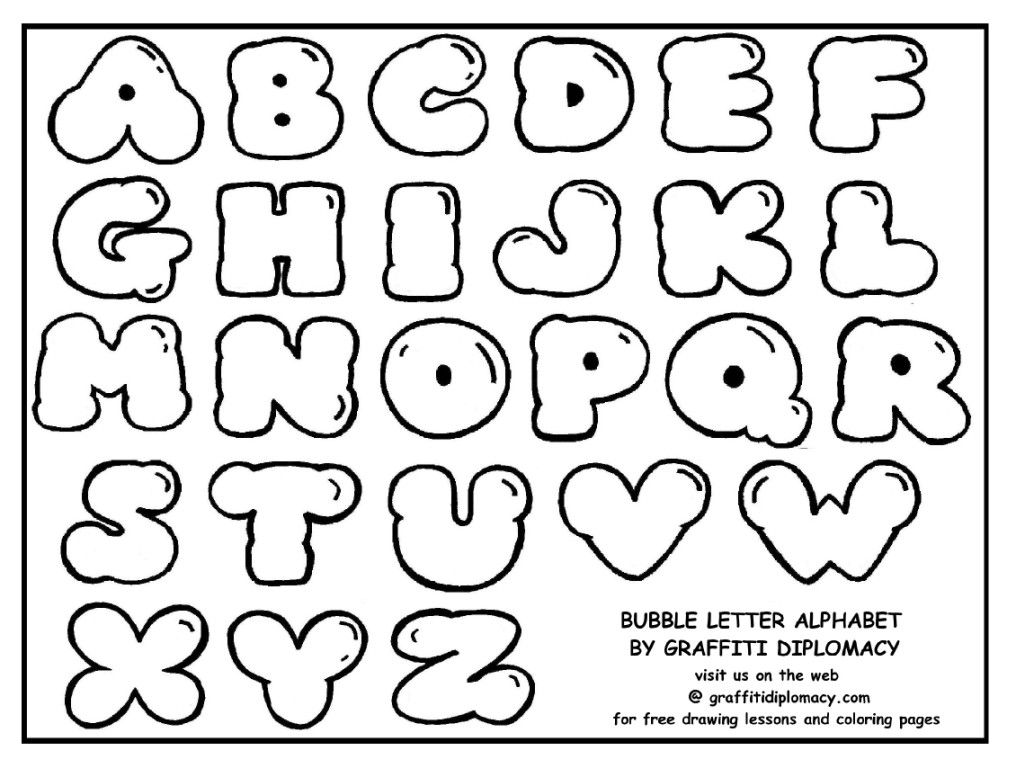 Free Black And White Bubble Letters, Download Free Clip Art.