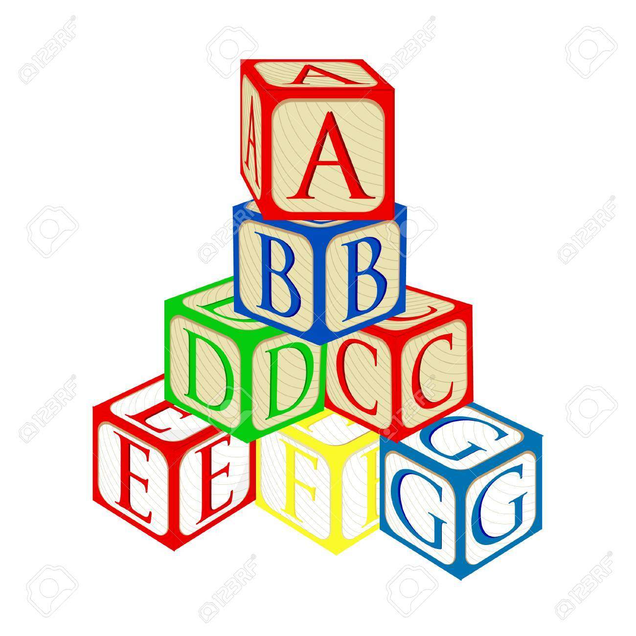 Baby Building Blocks Clipart.