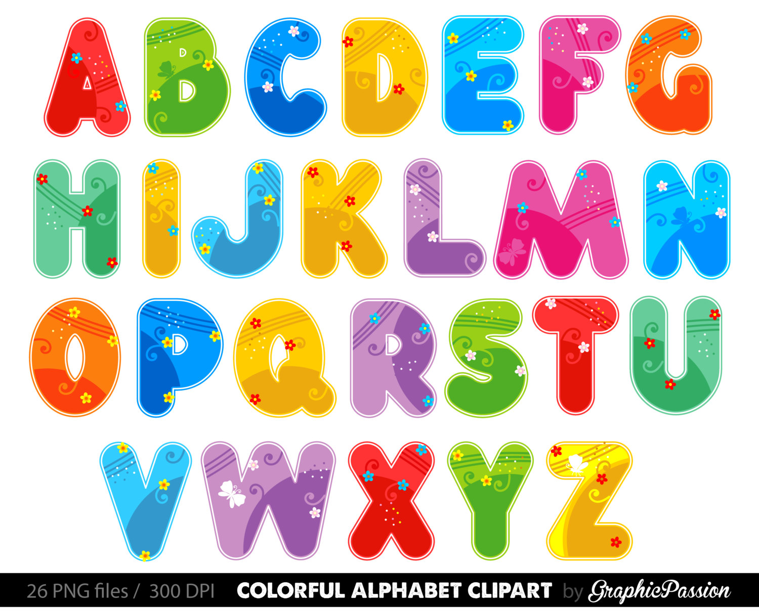 Letters Of The Alphabet Clipart.