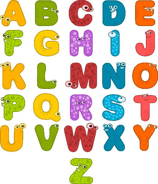 Printable Alphabet Letters Clipart.