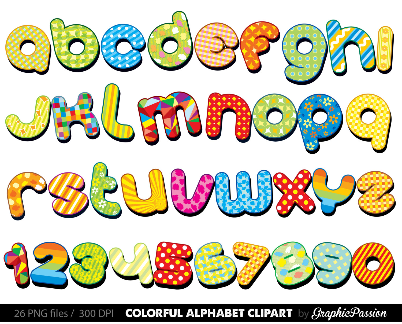 Clip art letters alphabet.