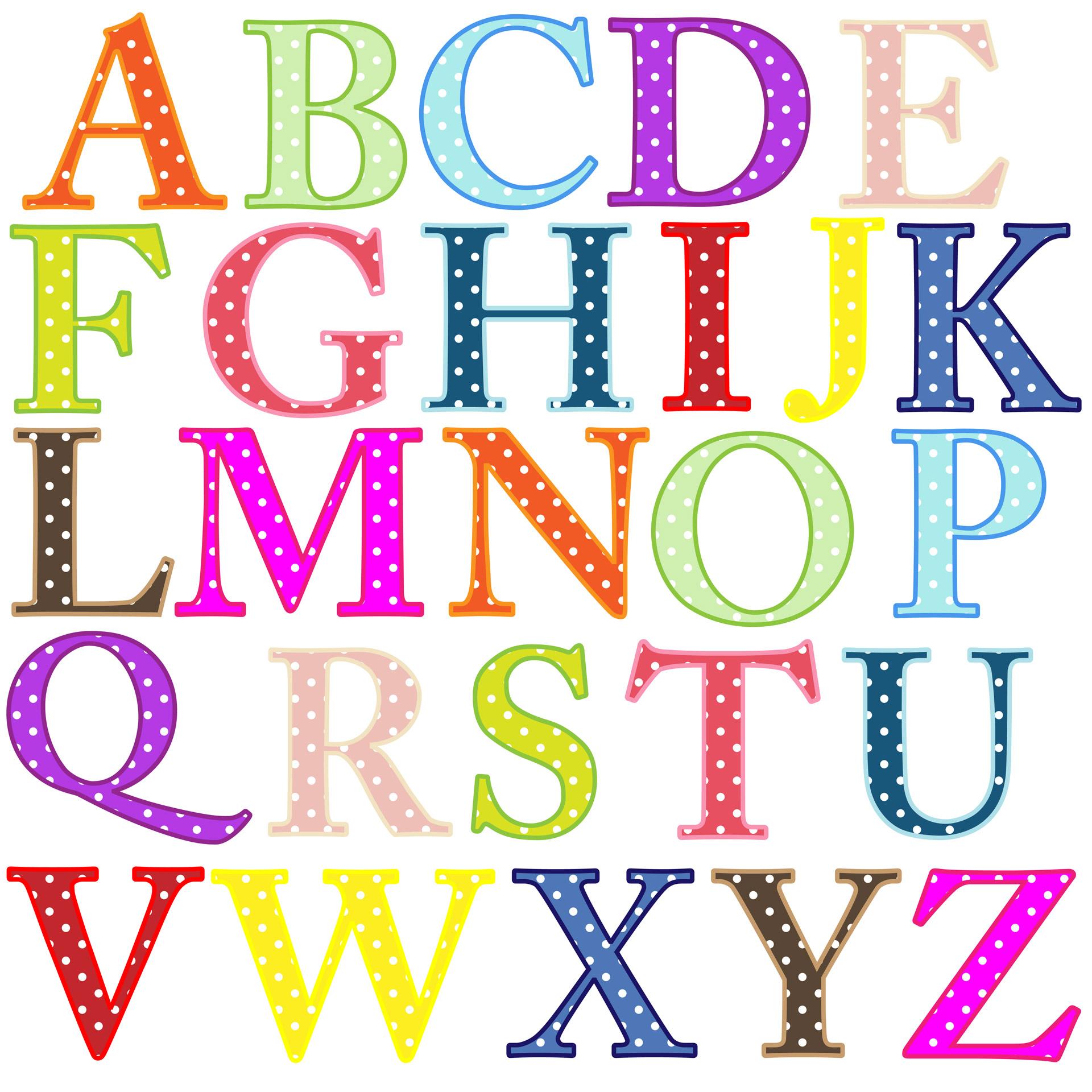 Free alphabet letters clip art.