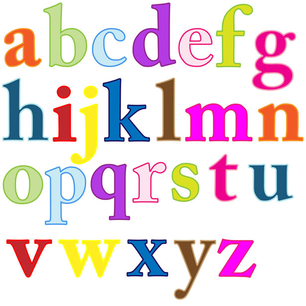 Individual Alphabet Letters Clipart.