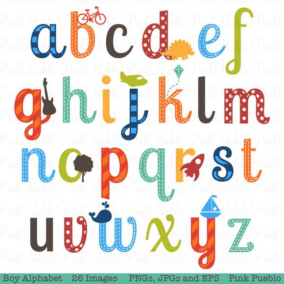 individual alphabet letters clipart