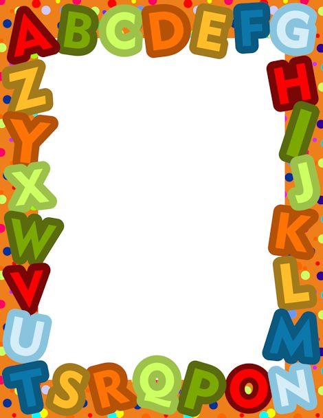 Alphabet clipart border, Alphabet border Transparent FREE.