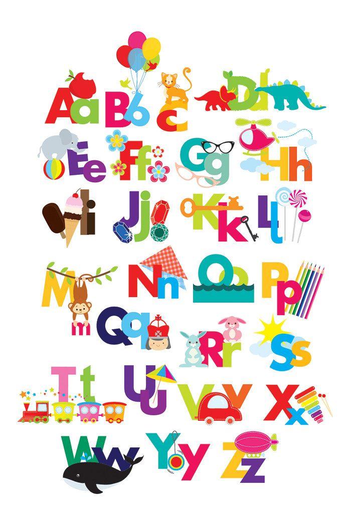 Alphabet clipart.
