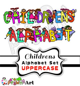 Kids Clipart Font Alphabet Letters.