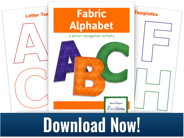 Make Your Own Fabric Alphabet + FREE Template.