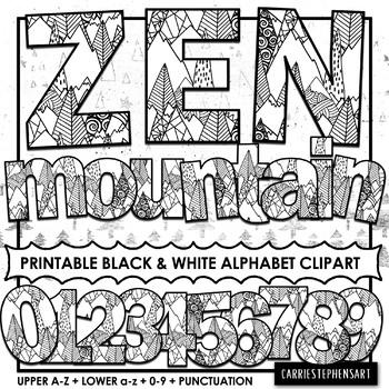 Zen Mountain Printable Bulletin Board Letters.