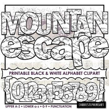 Mountain Printable Bulletin Board Letters.
