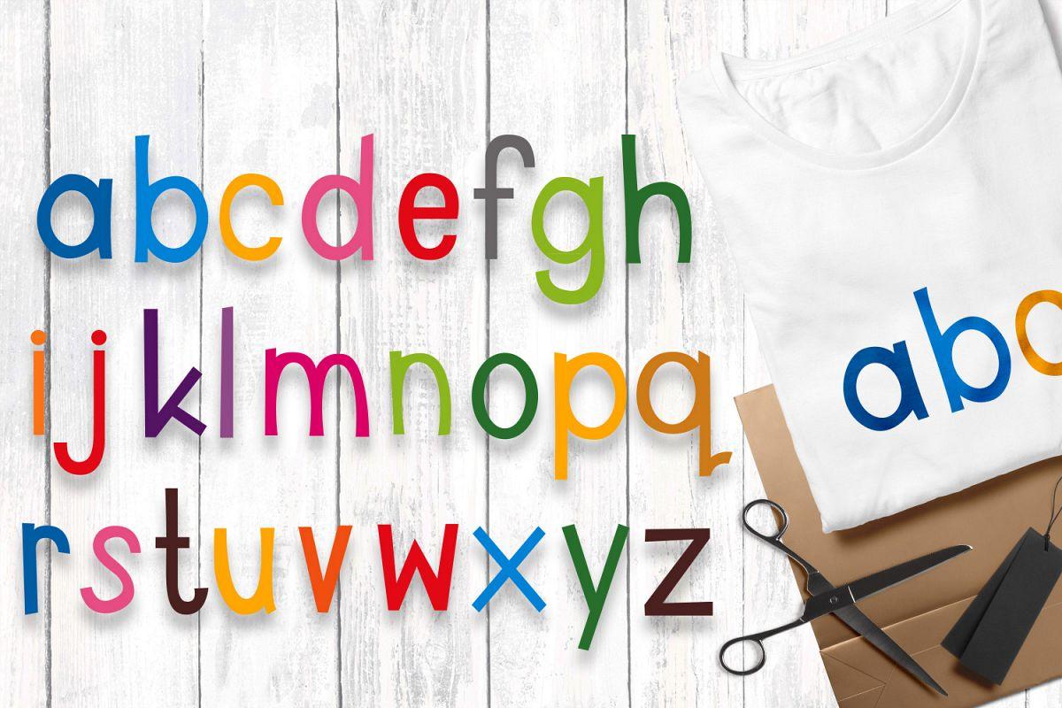Alphabet letters lowercase.