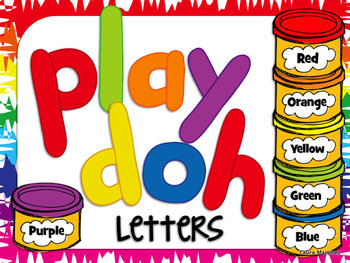 Playdoh Letters **Lowercase** and Numbers Clipart.