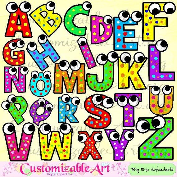 Alphabet Clipart Digital Alphabet Clip Art Images Upper Case.