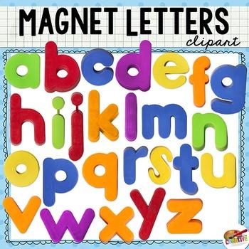 Magnet Letter Clip Art (Lowercase Alphabet).