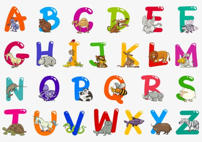 Alphabet With Animals PNG, Clipart, Alphabet Clipart, Animal.