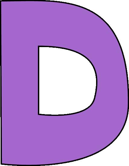 Purple Letter D Clip Art.