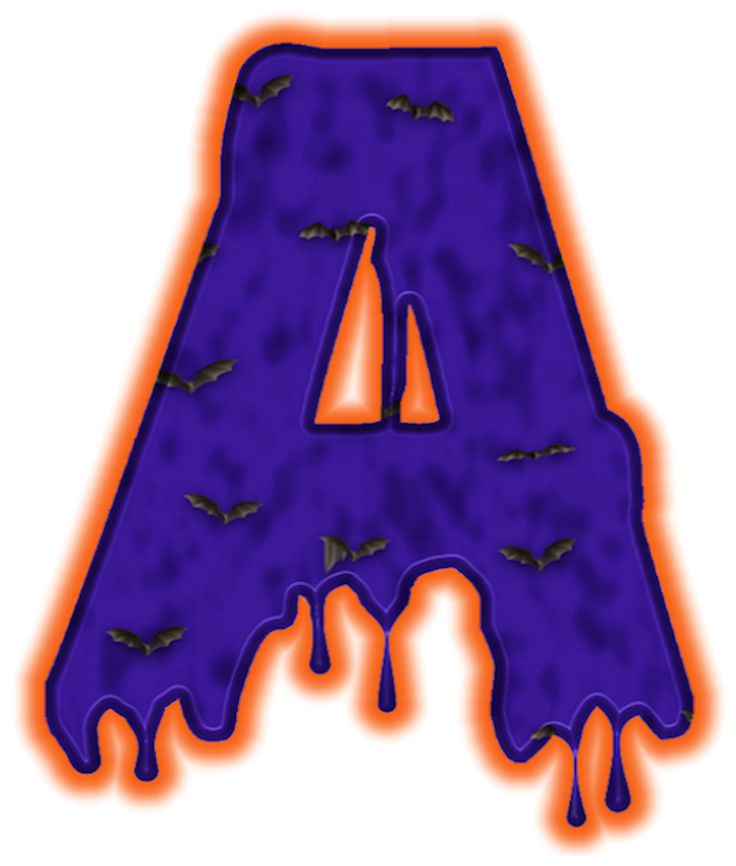 Halloween Letters Clipart.