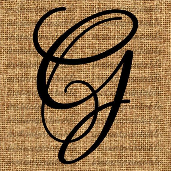 Monogram Initial Letter G Letter Clip Art by.